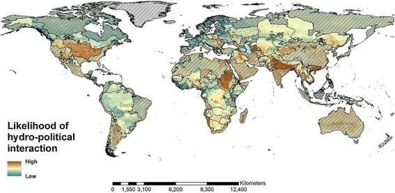 mapa donde se lucharan guerras por el agua en el futuro 2