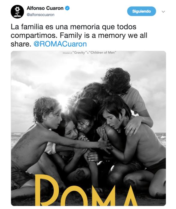 alfonso cuaron lanza poster oficial de la pelicula roma 1