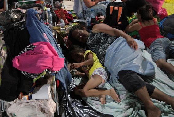 ninos en la caravana migrante 3