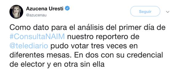 reportan irregularidades en consulta ciudadana del naicm 3