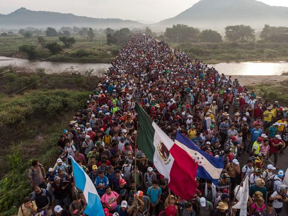 caravana migrante se dirige a la ciudad de mexico 1