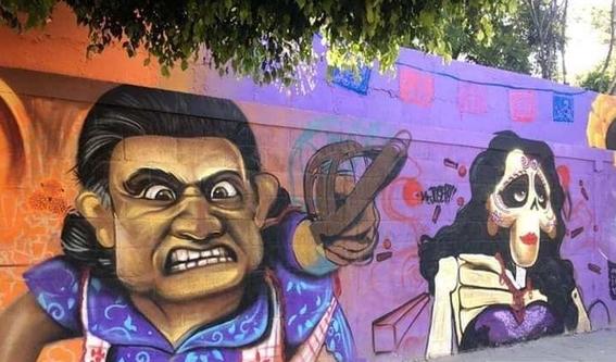 adornan panteon de guanajuato con murales de coco 1