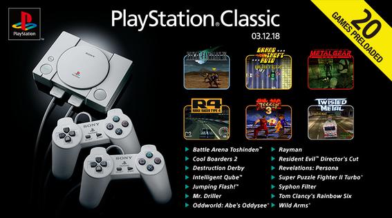 anuncian 20 juegos que vendran en playstation classic 1