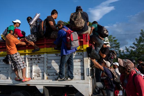 caravana migrante avanza hacia niltepec 3