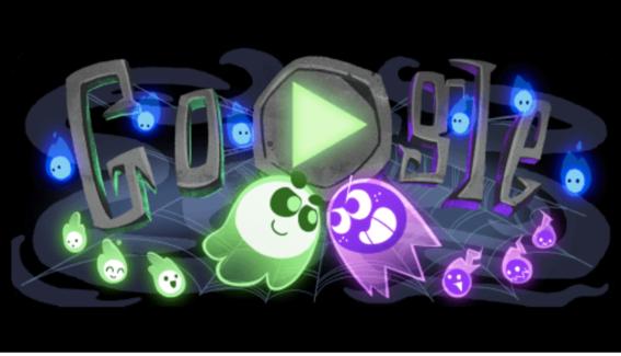 google saca doodle juego para celebrar halloween 2018 1