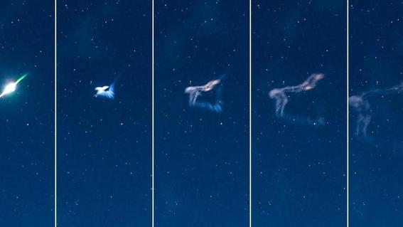 captan el momento exacto en que explota un meteorito 1
