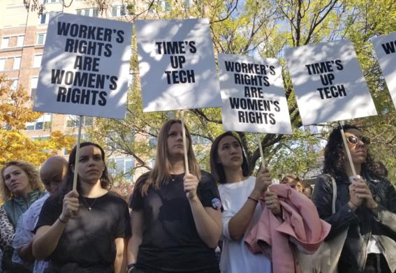protestas y paro en google escandalos sexuales 1
