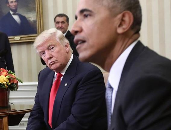 trump y obama chocan antes de votaciones congreso eua 1