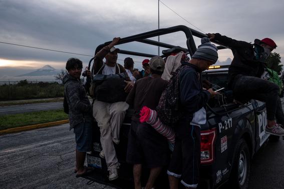 caravana migrante viene a cdmx paso por veracruz 2