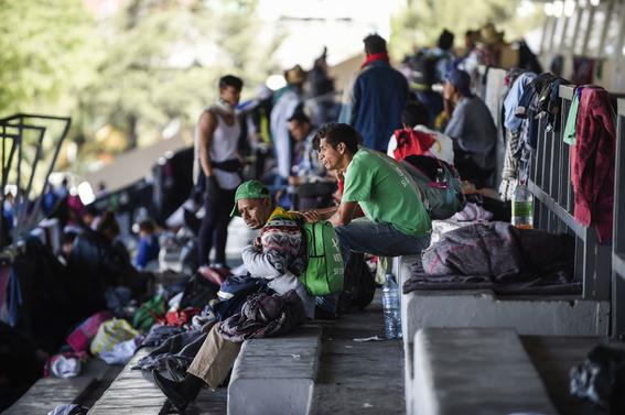 caravana migrante en cdmx 9