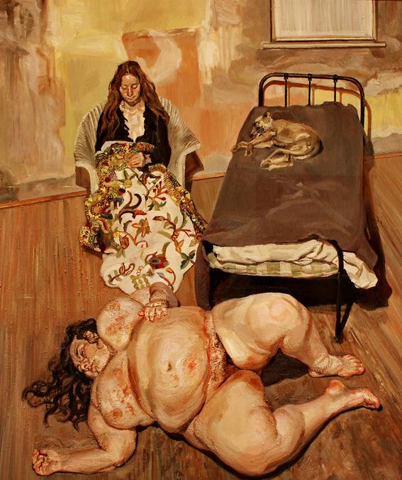 sue tilley musa de lucian freud pintura belleza y erotismo 5