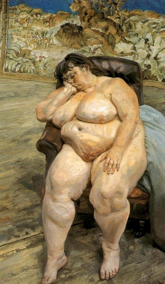 sue tilley musa de lucian freud pintura belleza y erotismo 6