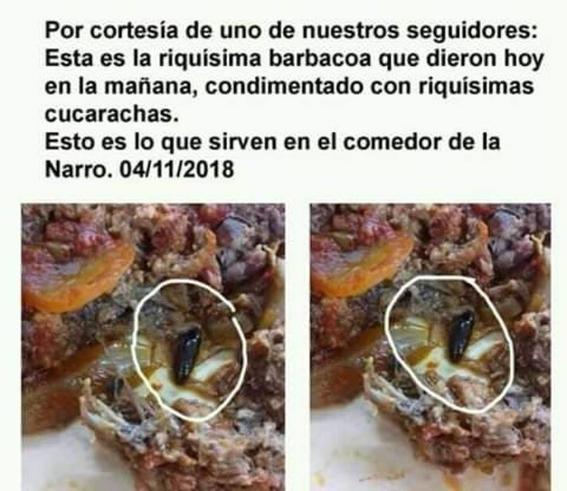 denuncian estudiantes que reciben comida con gusanos en universidad agraria 1