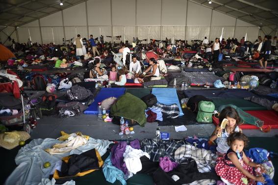 imagenes paso de caravana migrante por mexico 2