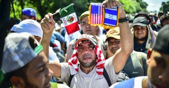 como viven los migrantes de la caravana migrante 2