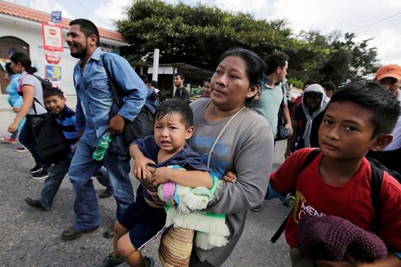 como viven los migrantes de la caravana migrante 1