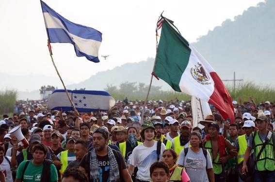 como viven los migrantes de la caravana migrante 4