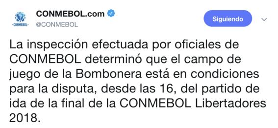 conmebol confirma domingo superfinal boca contra river 1