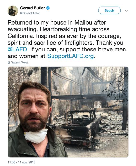 asi postean tuits las celebridades sobre los incendios en california 4