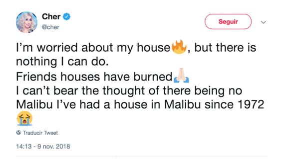 asi postean tuits las celebridades sobre los incendios en california 5