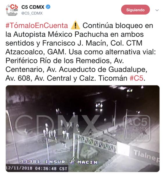 caos mexico pachuca por bloqueo habitantes san juanico 2