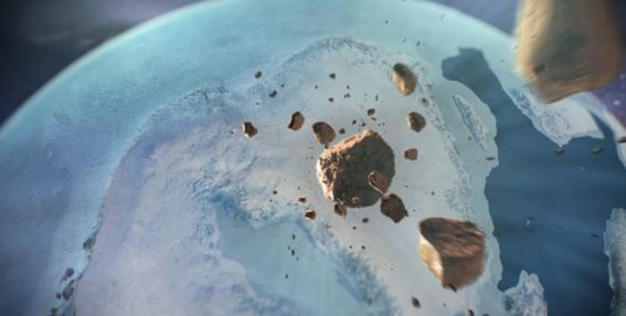 encuentran crater gigante debajo de hielo en groenlandia 2