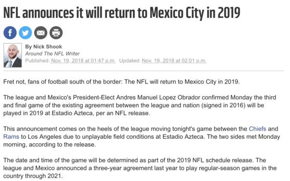 amlo y nfl acuerdan que mexico tendra juego en 2019 2
