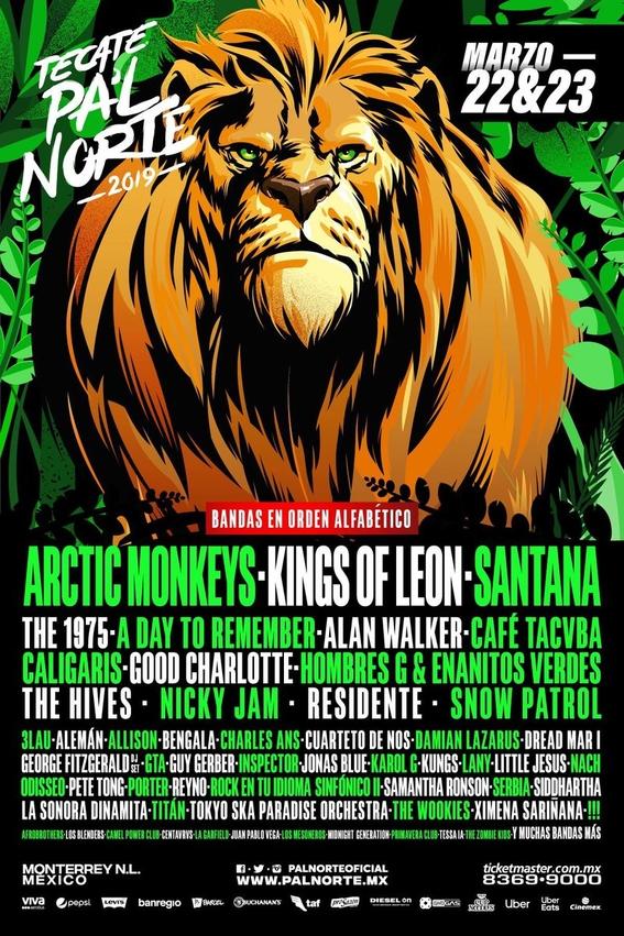 revelan cartel completo de festival pal norte en monterrey 1