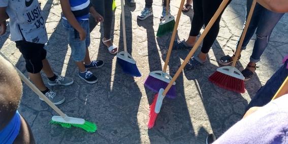migrantes crean caravana de limpieza en tapachula 1
