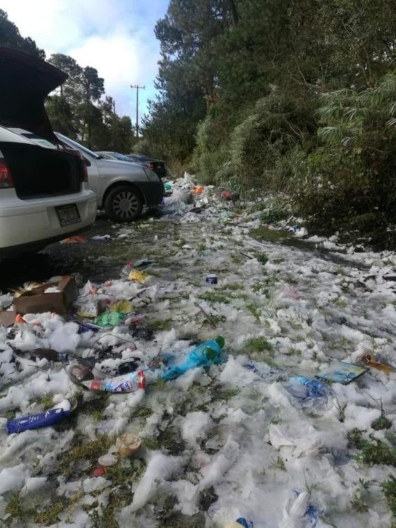 basura en el nevado de toluca 1