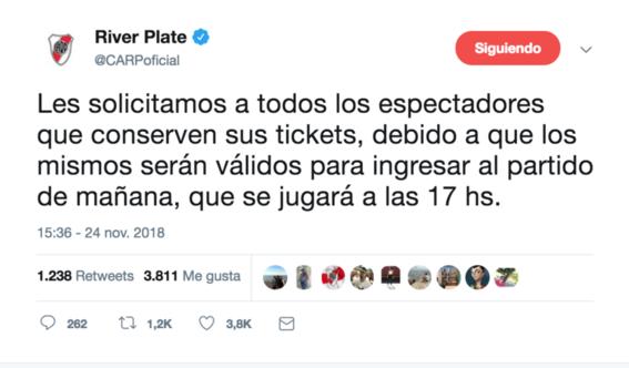 presidente de boca juniors agradece por postergar final de copa libertadores 2