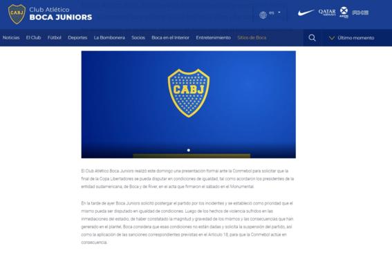 boca juniors pide cancelar la superfinal libertadores 3