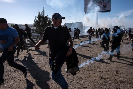 violencia mexico detuvo 98 migrantes de caravana 1