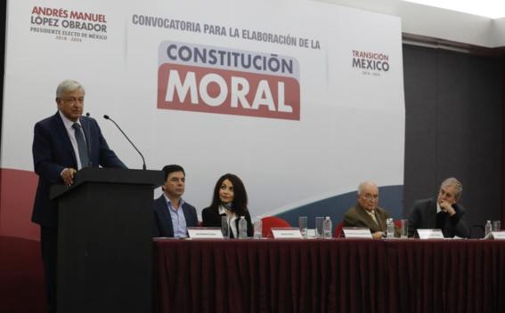 amlo presenta convocatoria para nueva constitucion moral 1