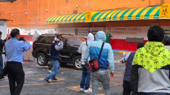 enfrentamiento en taqueria el borrego viudo por desalojo 1
