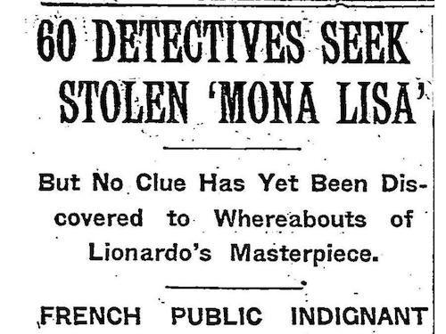 El robo que hizo de la Mona Lisa la pintura más sobrevalorada de la historia 2