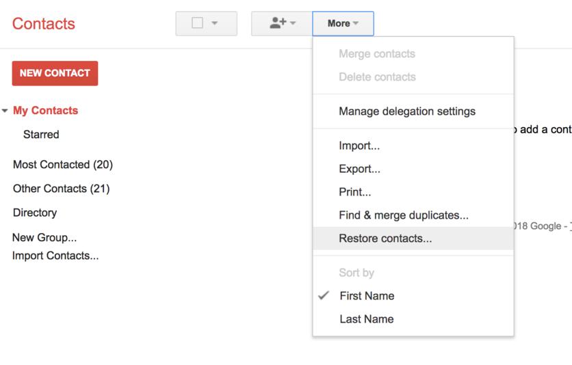 ¿Cómo recuperar un contacto borrado de Gmail? 2