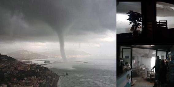 un tornado destruye un restaurante italia 1