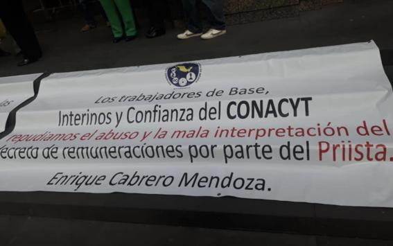 trabajadores conacyt denuncian recorte prestaciones y salarios 1