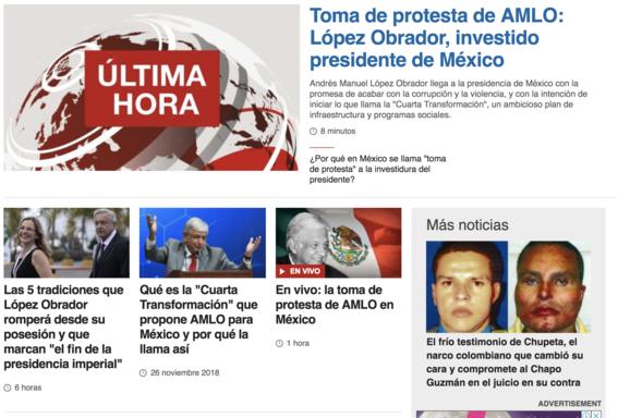 reaccion prensa internacional toma de protesta de amlo 1
