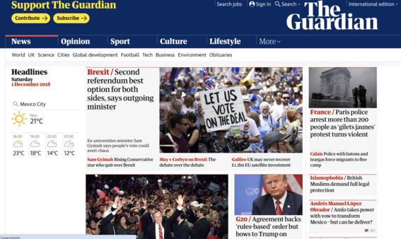 reaccion prensa internacional toma de protesta de amlo 2