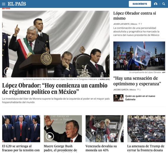 reaccion prensa internacional toma de protesta de amlo 3
