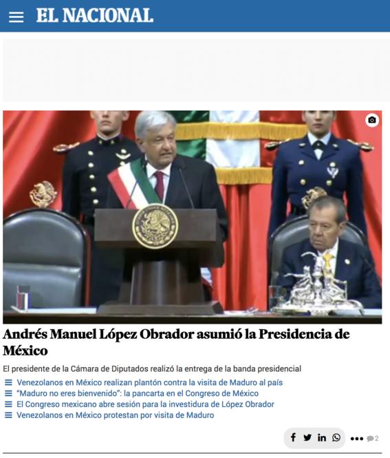 reaccion prensa internacional toma de protesta de amlo 6