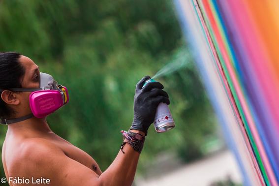 farid rueda hace un mural por juegos de la nba en mexico 3