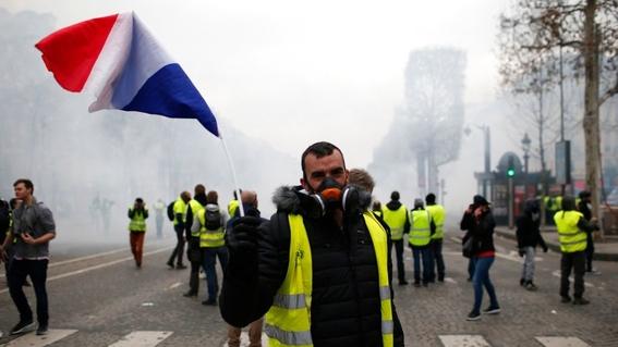 jornada de protestas de chalecos amarillos en francia 1