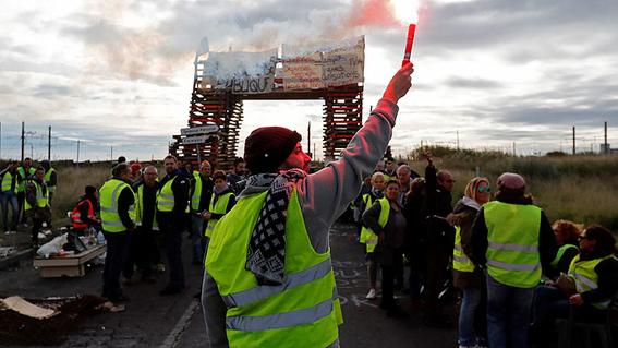 jornada de protestas de chalecos amarillos en francia 2