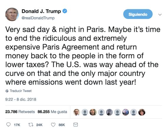 trump pide terminar con el acuerdo de paris 2