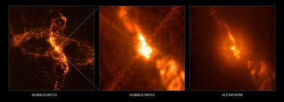 fotografias de dos estrellas que se destruyen entre ellas 1