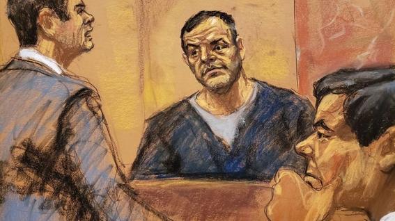 el chapo se emociona al ver a sus hijas en la corte 1