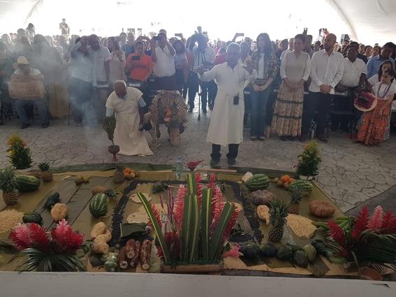 ceremonia a la madre tierra para tren maya 1